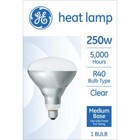 General Electric 250W BR40 Heat Lamp Clear