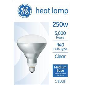 Ge 250 Watt Dimmable R40 Heat Lamp Incandescent Light Bulb
