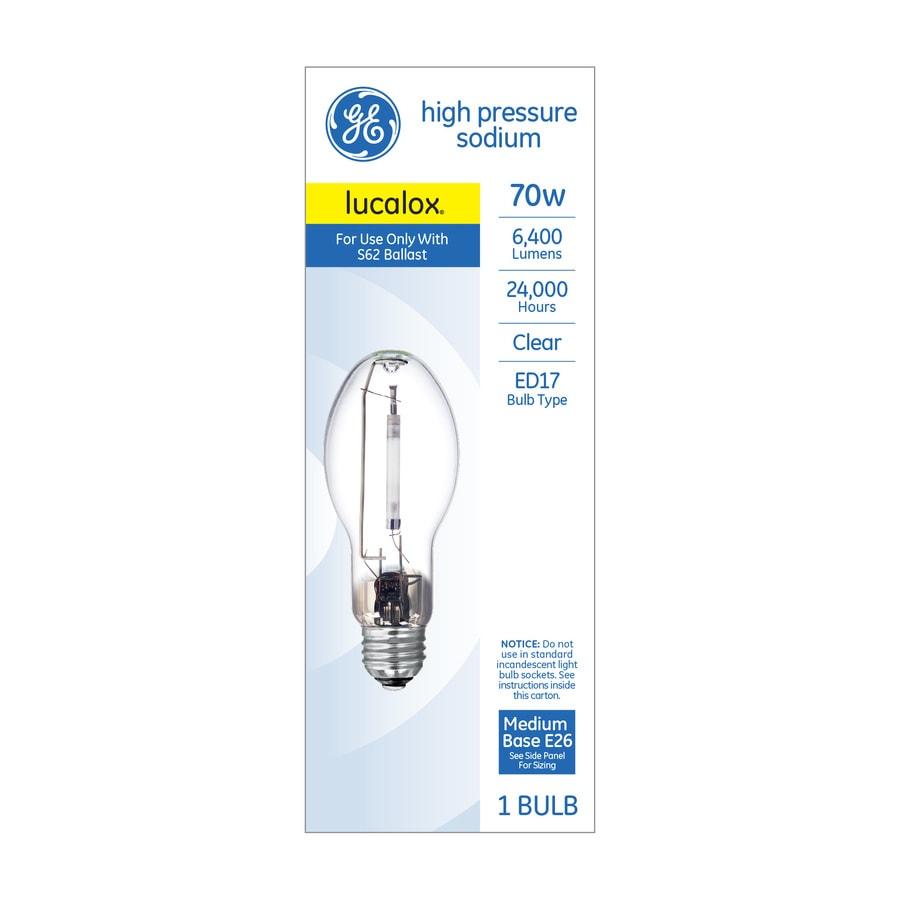 Hid Light Bulbs >> Ge 70 Watt Ed17 For Indoor Outdoor Use High Pressure Sodium Hid