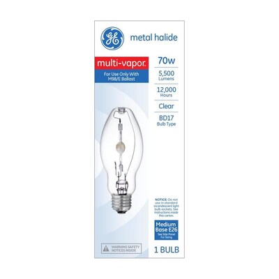 70 Watt Ed17 For Indoor Outdoor Use Metal Halide Hid Light Bulb