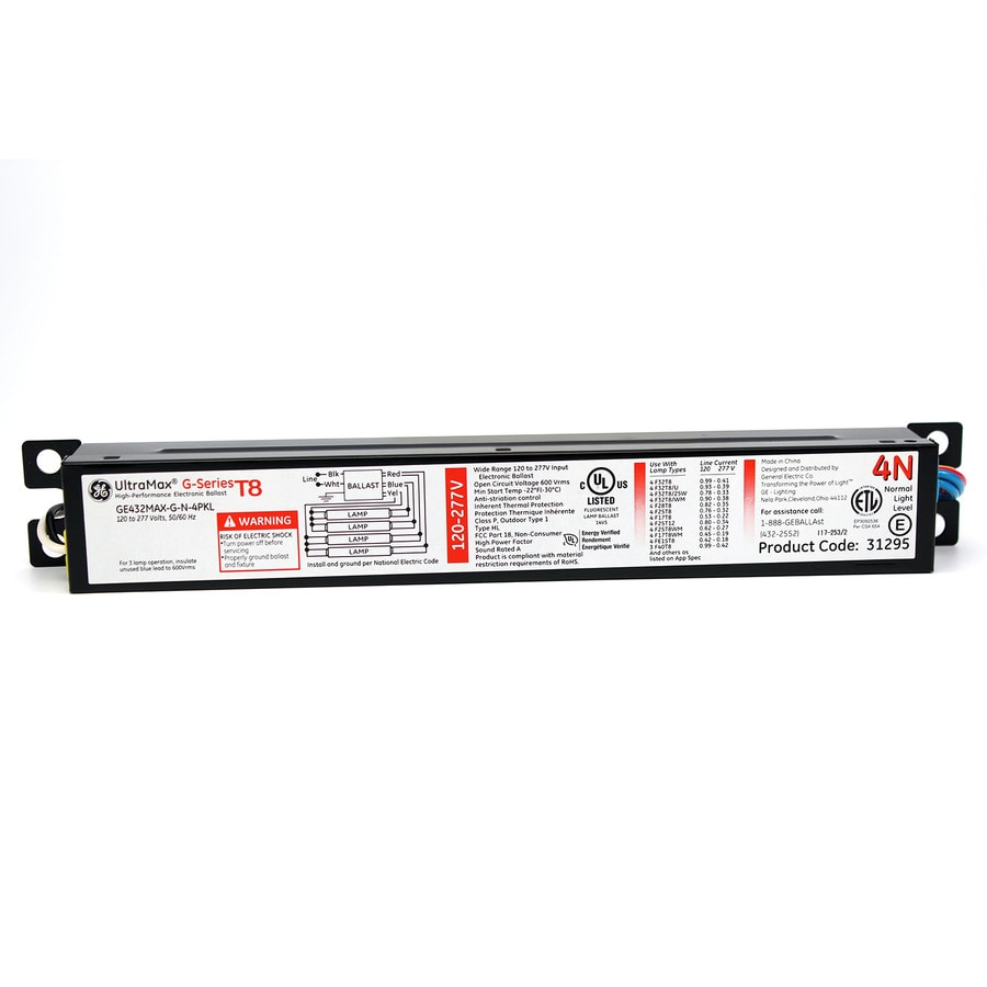 Ge 4 Bulb Commercial Electronic Fluorescent Light Ballast In The Ballasts Department At Lowes Com