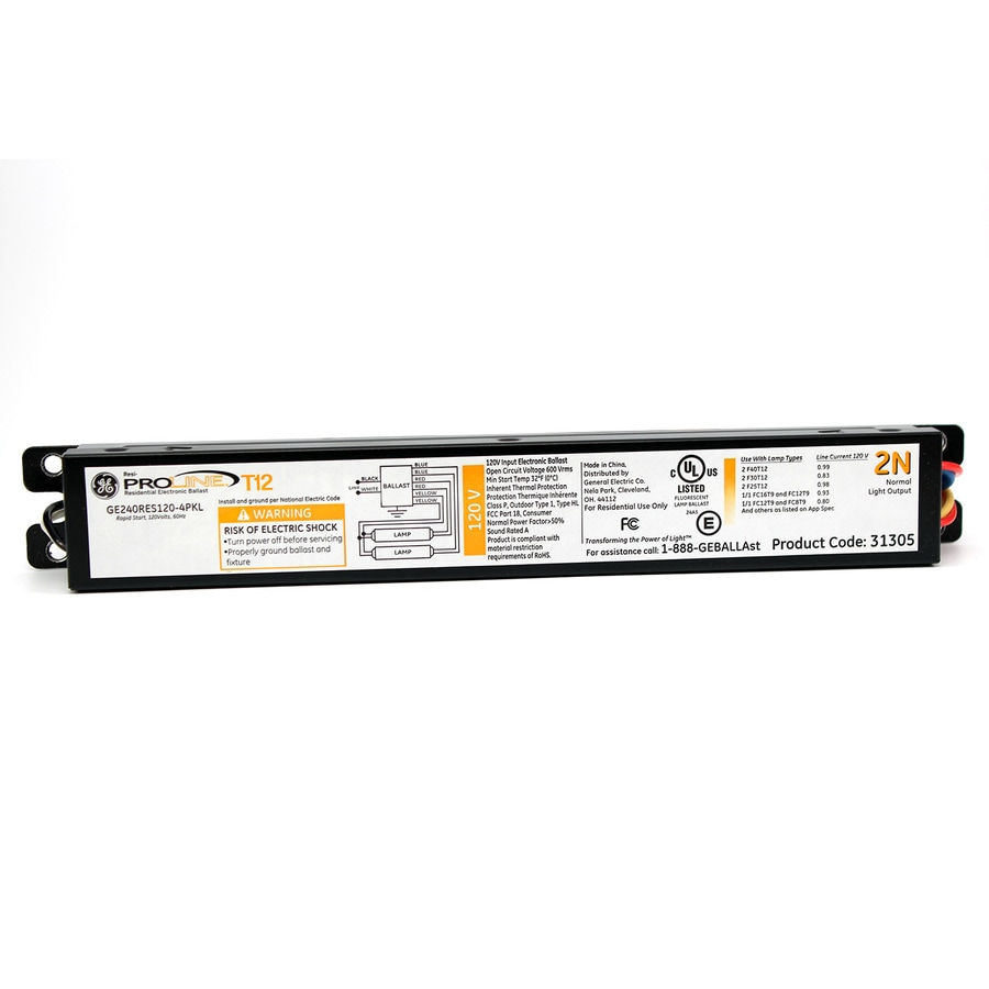 Ge 2 Bulb Commercial Electronic Fluorescent Light Ballast At Fluorescentlightelectronicballastcircuit