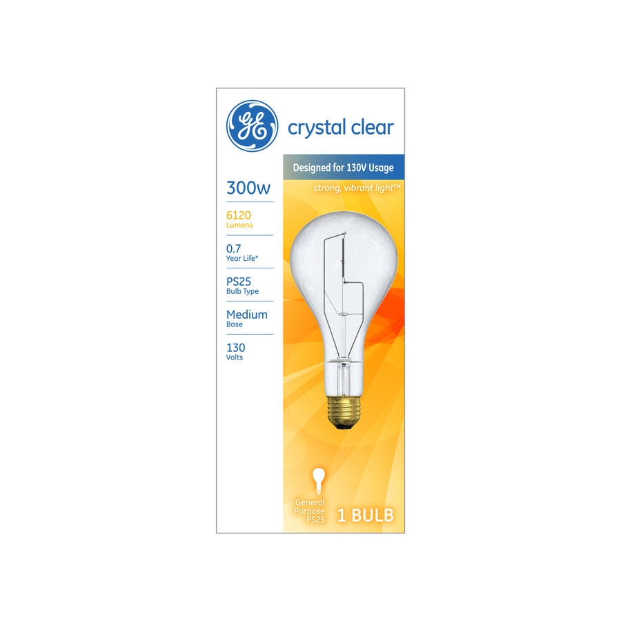 Shop ge 300 watt dimmable soft white ps incandescent light fixture ge 300 watt dimmable soft white ps incandescent light fixture light bulb arubaitofo Image collections