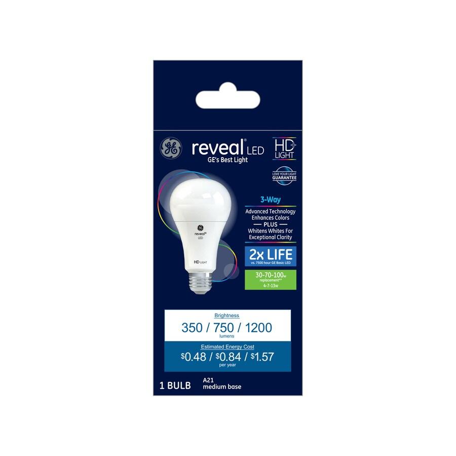 shop ge reveal color enhancing 3 way bulb dimmable light bulb at. Black Bedroom Furniture Sets. Home Design Ideas