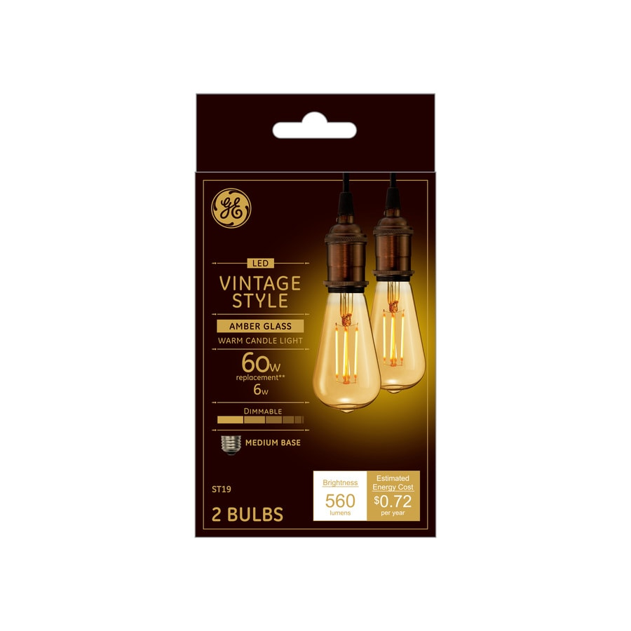 Ge Led Bulbs: GE Vintage 60-Watt EQ Warm Candle Light Dimmable Edison
