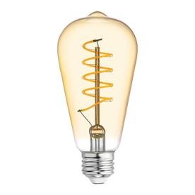 Ge Vintage 60 Watt Eq Amber Dimmable Edison Light Bulb