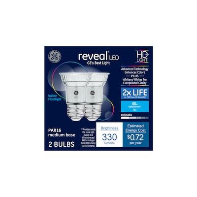 Reveal 60-Watt EQ LED PAR16 Color-Enhancing Dimmable Flood Light Bulb  (2-Pack)