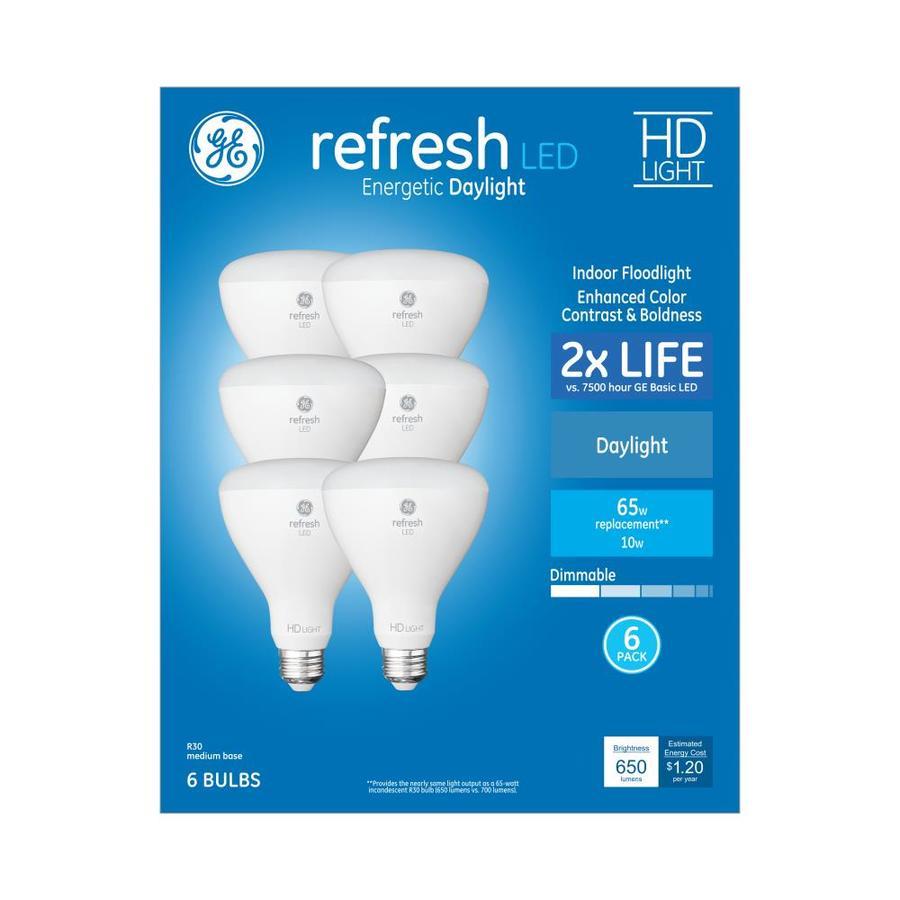 Ge 65 Watt Eq Daylight Dimmable Light Bulbs 6 Pack At