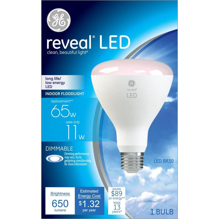 Shop Ge Reveal 65w Equivalent Dimmable Color Enhancing Br30 Led Flood Light Bulb At