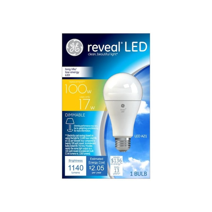 Ge Reveal 100 Watt Eq A21 Color Enhancing Led Light Bulb In The General Purpose Led Light Bulbs Department At Lowes Com