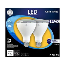 Genial GE 2 Pack 65 W Equivalent Dimmable Warm White Br30 LED Flood Light Bulbs