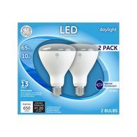 Lowes.com deals on 2-Pack GE 65-Watt EQ Daylight Dimmable Light Bulbs