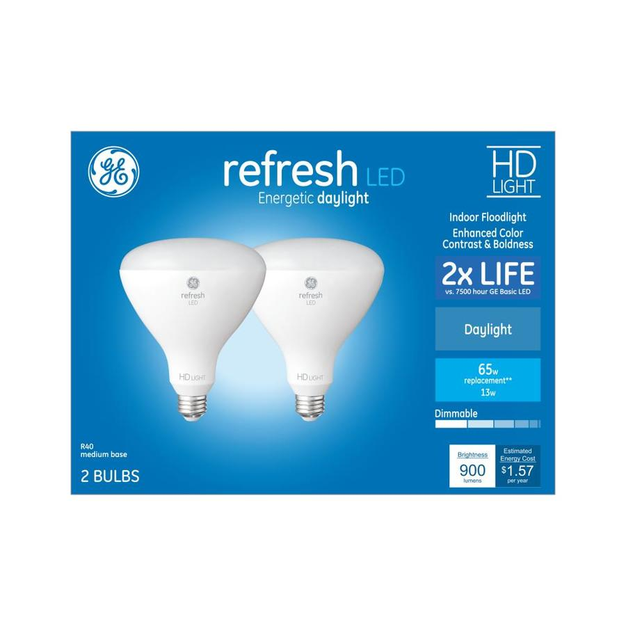shop ge refresh 65 watt eq daylight dimmable light bulbs 2 pack at. Black Bedroom Furniture Sets. Home Design Ideas