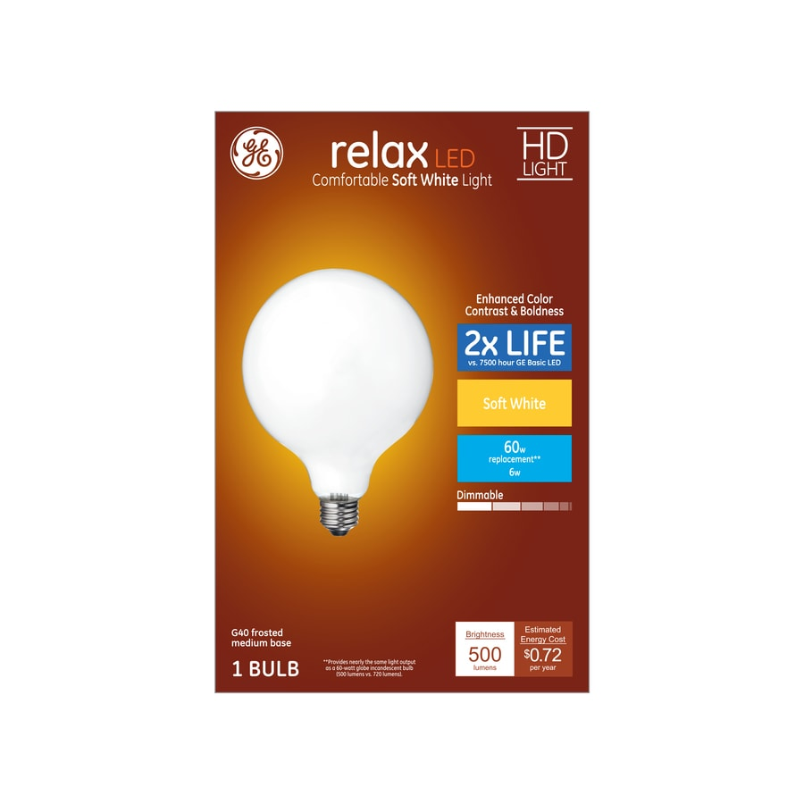 Shop Ge Relax 60 W Equivalent Dimmable Soft White G40 Led