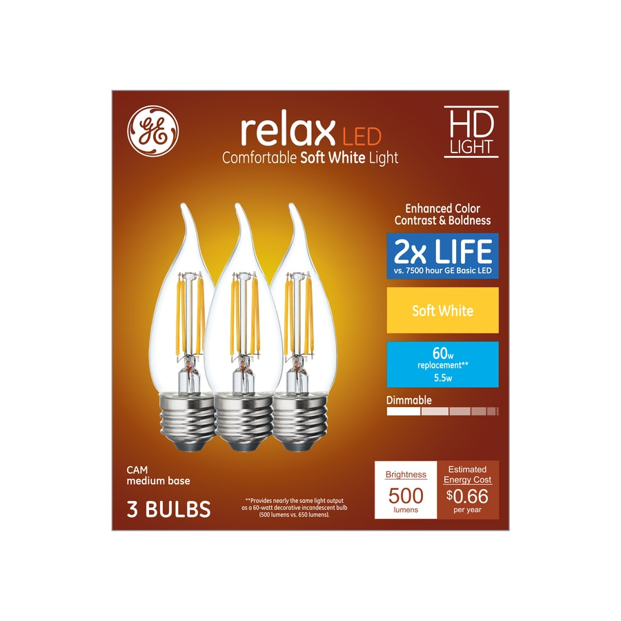 Shop ge relax 3 pack 60 w equivalent dimmable soft white br40 led ge relax 3 pack 60 w equivalent dimmable soft white br40 led light fixture light arubaitofo Image collections