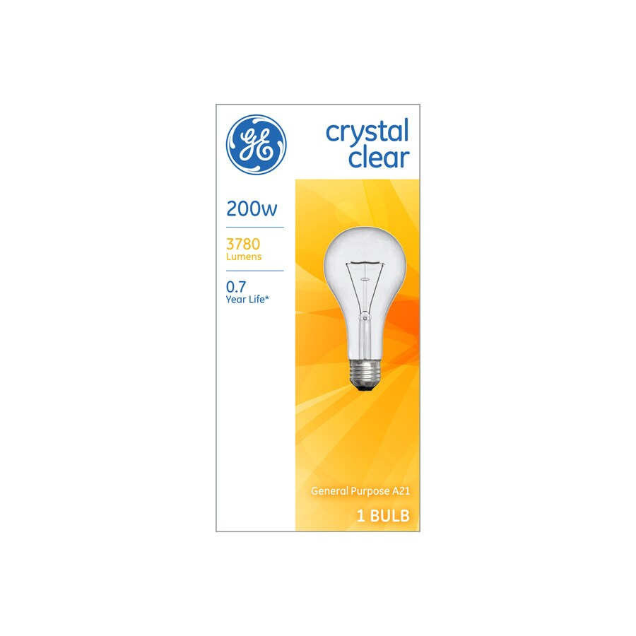 Ge 200 Watt Dimmable A21 Light Fixture Incandescent Bulb