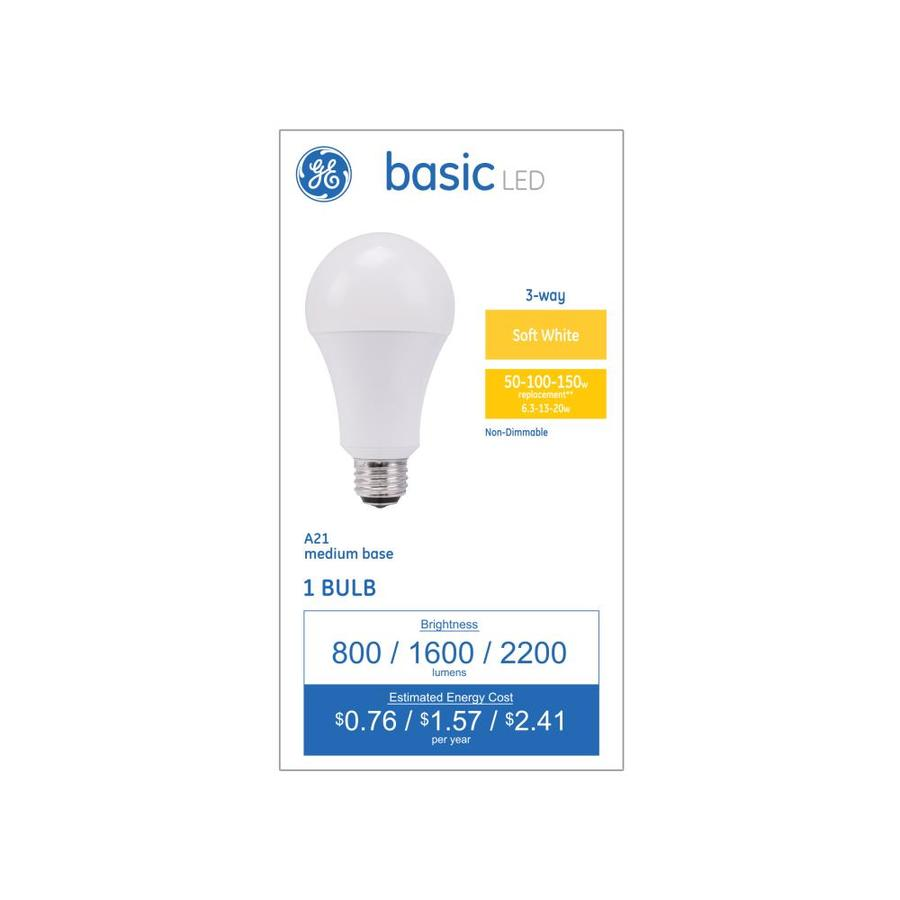 shop ge basic 100 watt eq warm white 3 way bulb light bulb at. Black Bedroom Furniture Sets. Home Design Ideas