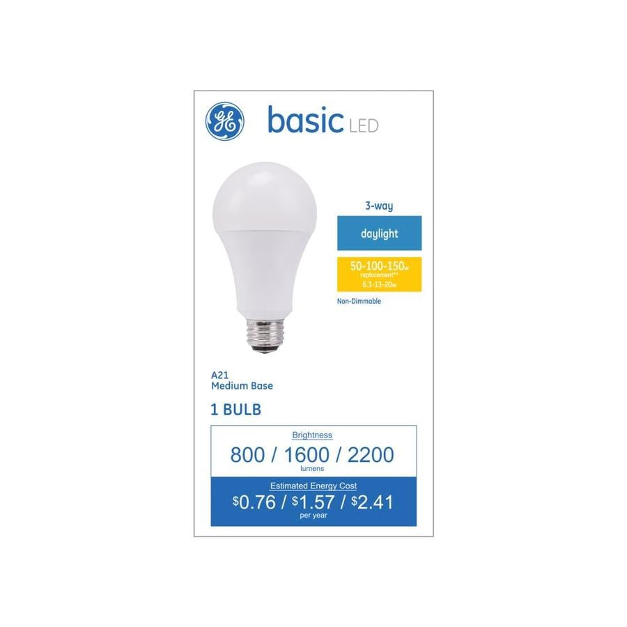 GE Basic 100-Watt EQ Daylight 3-Way Bulb Light Bulb At