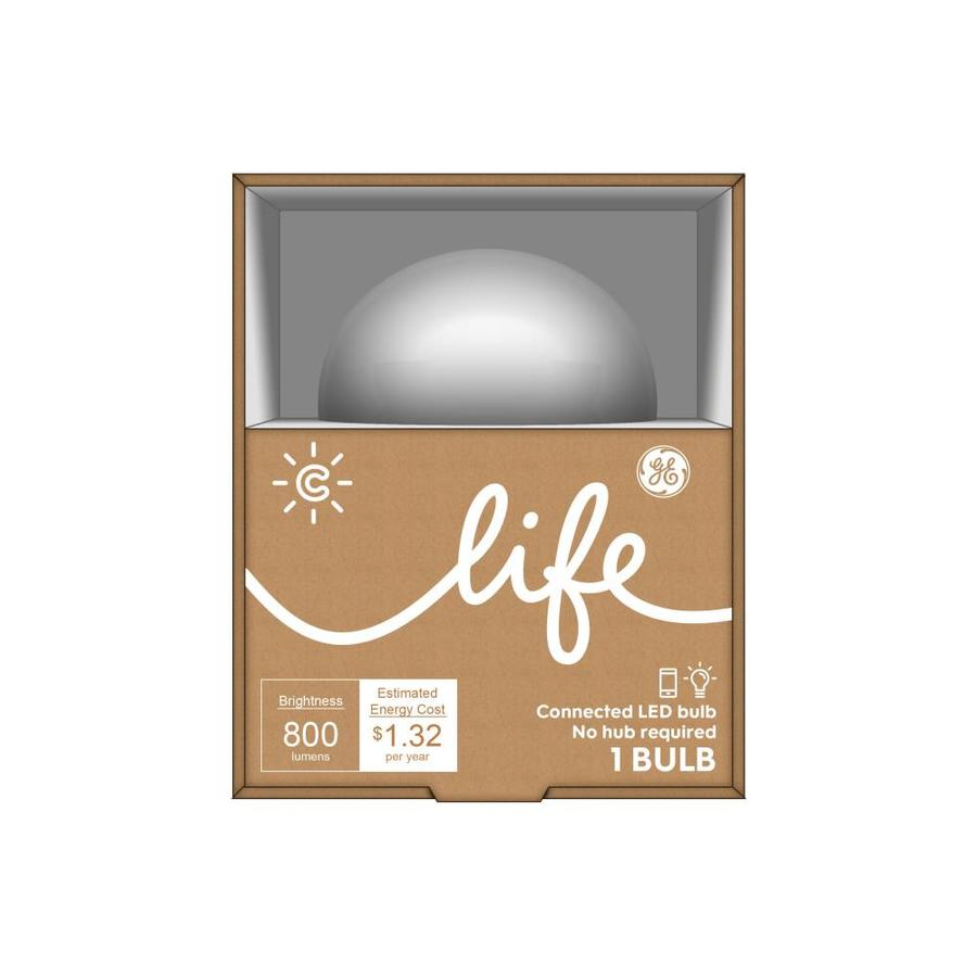 GE C-Life 60W Equivalent Dimmable Soft White A19 LED Light Fixture Light Bulb