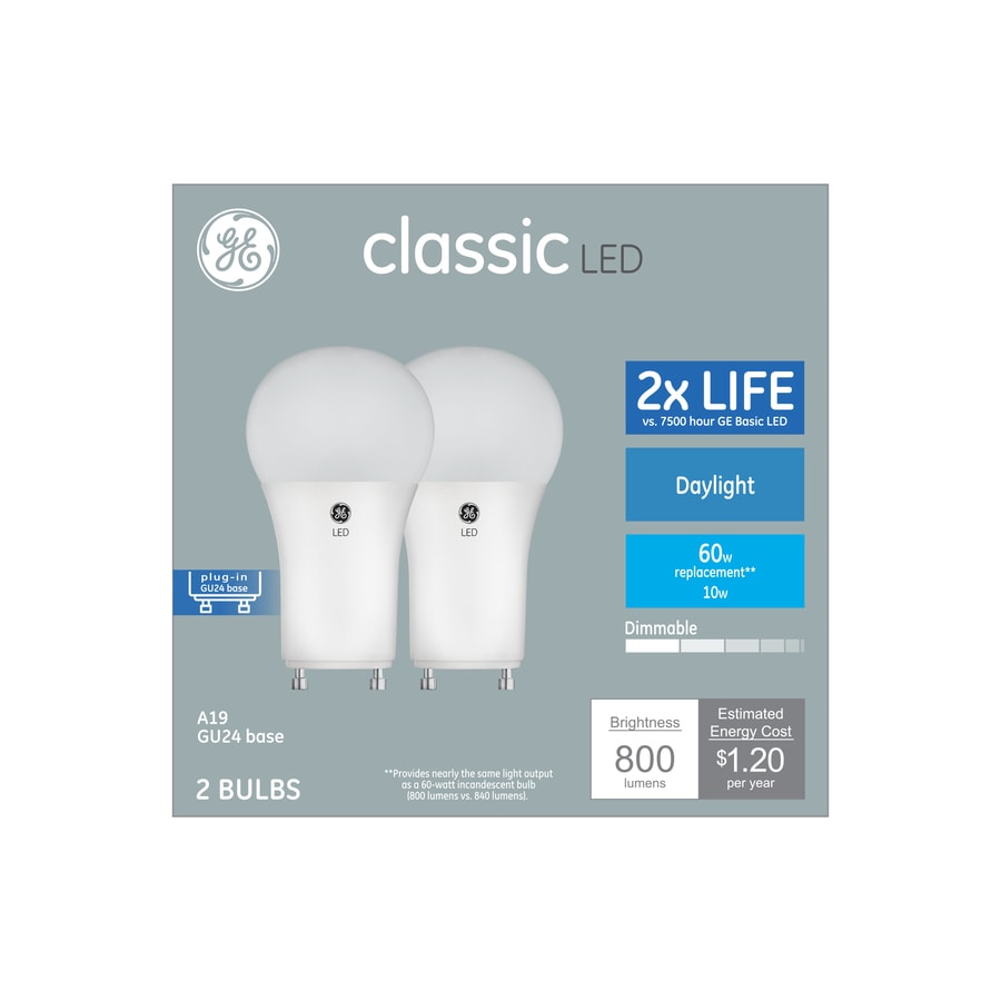 Ge Clic 60 Watt Eq Daylight Dimmable Light Bulbs 2 Pack