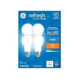 GE Refresh 40-Watt EQ A19 Daylight Dimmable LED Light Bulb (4-Pack)