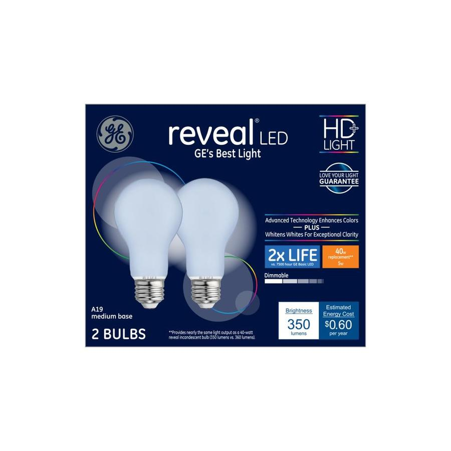 Ge 40w Equivalent Reveal A19 Dimmable Led Light Bulb: GE Reveal 40-Watt EQ A19 Color-enhancing Dimmable LED