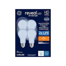GE Reveal 40-Watt EQ A19 Color-enhancing Dimmable LED Light Bulb (4-Pack)