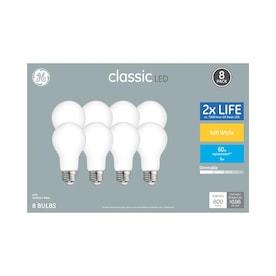 GE Classic 60-Watt EQ A19 Soft White Dimmable LED Light Bulb (8-Pack)