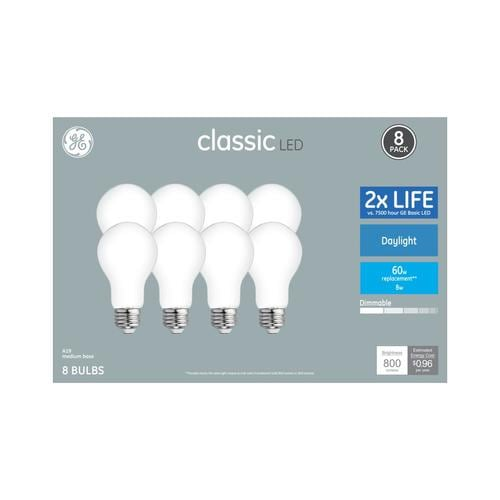 Ge Clic 60 Watt Eq A19 Daylight Dimmable Led Light Bulb 8 Pack At Lowes