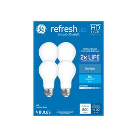 GE Refresh 60-Watt EQ A19 Daylight Dimmable LED Light Bulb (4-Pack)