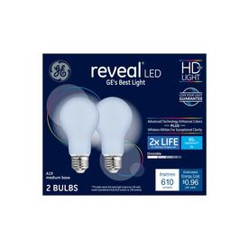 Ge Reveal 60 Watt Eq Color Enhancing Dimmable Light Bulbs 2 Pack