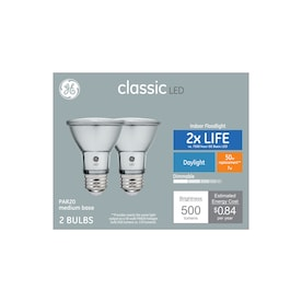 GE Classic 50-Watt EQ LED Par20 Daylight Dimmable Flood Light Bulb (2-Pack)