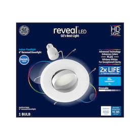 GE Reveal Integrated LED 6-in 65-Watt EQ Frosted Round Dimmable Recessed DownLight