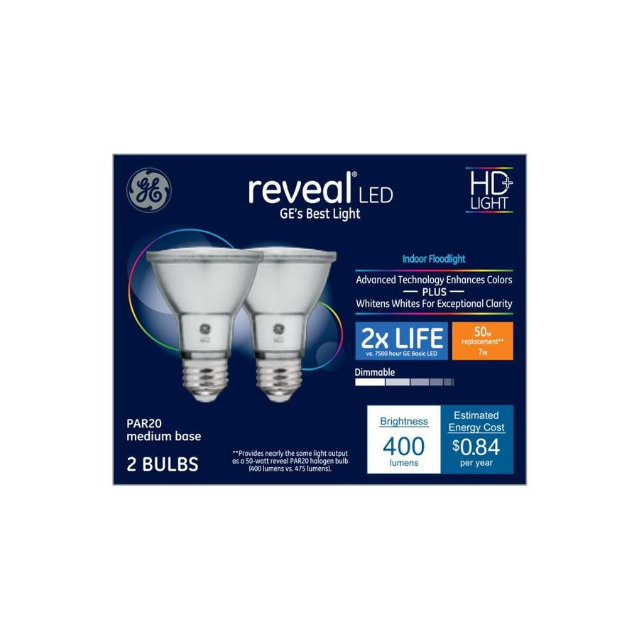 Ge 40w Equivalent Reveal A19 Dimmable Led Light Bulb: GE Reveal 50-Watt EQ Color-enhancing Dimmable Light Bulbs