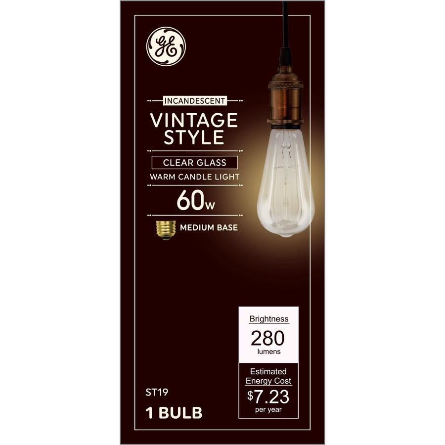 Ge 60 Watt Dimmable St19 Vintage Light