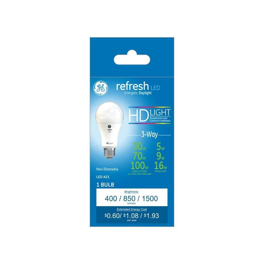 Ge Refresh 100 Watt Eq Daylight 3 Way Bulb A Style Led Light Bulb At