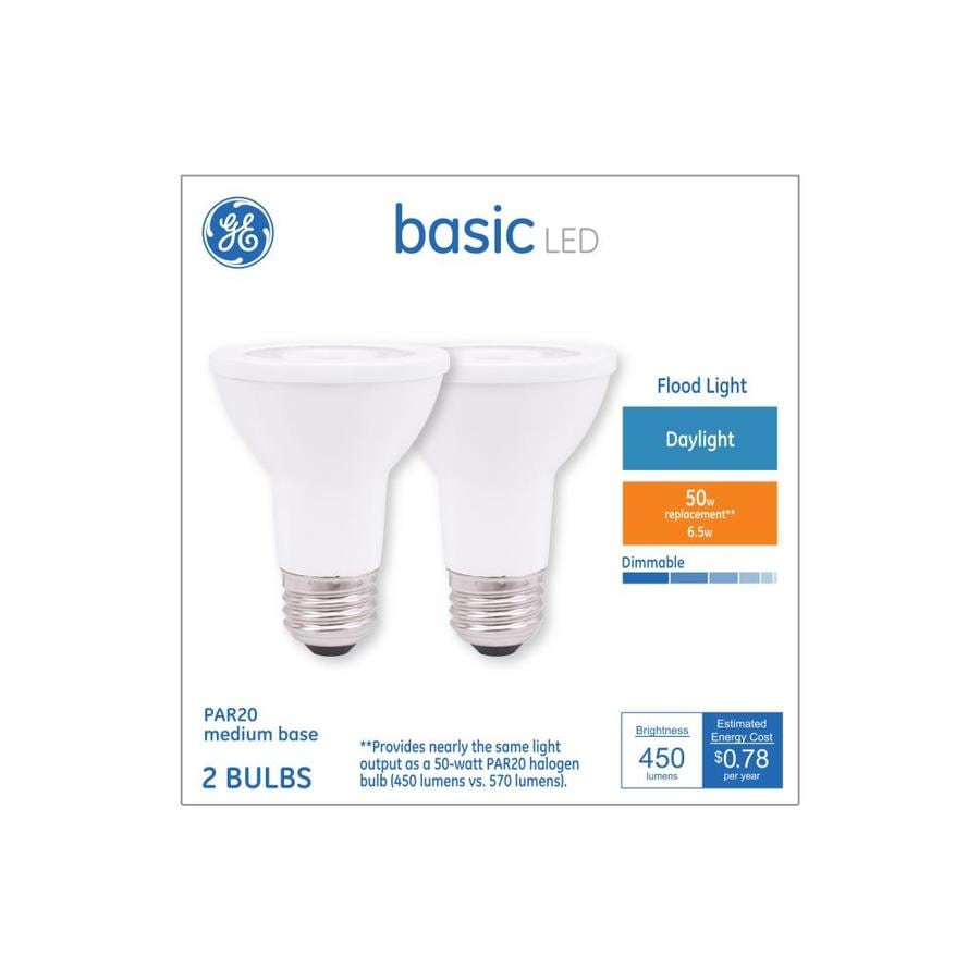 Ge 50 Flood Eq Bulb2 Led Dimmable Watt Par20 Daylight Basic Light UVSzMqp