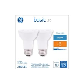 GE Basic 50-Watt EQ LED Par20 Daylight Dimmable Flood Light Bulb (2-Pack)
