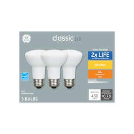 GE Classic 45-Watt EQ LED R20 Warm White Dimmable Flood Light Bulb (3-Pack)