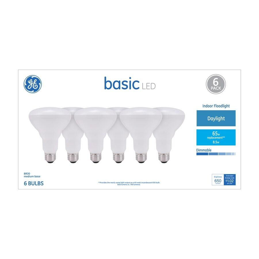 GE Basic 65-Watt EQ Daylight Dimmable Flood Light Bulb (6