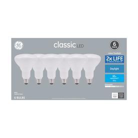 GE Classic 65-Watt EQ LED Br30 Daylight Dimmable Spotlight Light Bulb (6-Pack)