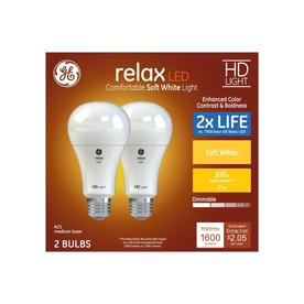 GE Relax 100-Watt EQ A21 Soft White Dimmable LED Light Bulb (2-Pack)