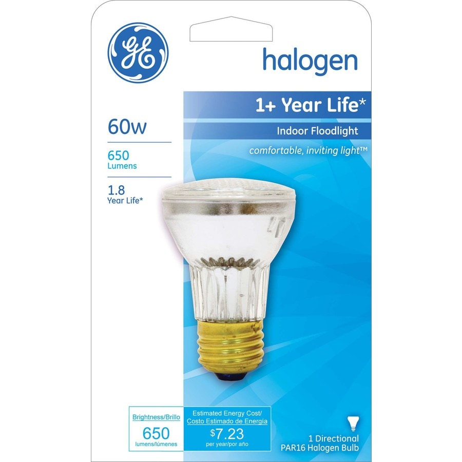 GE 60 Watt Dimmable Bright White Par16 Halogen Flood Light Bulb
