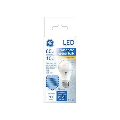 Ge Garage Door 60 Watt Eq A19 Soft White Led Light Bulb At