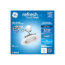 GE Refresh 50-Watt Equivalent White Dimmable Recessed Downlight (4-in)