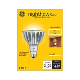 Ge Nighthawk 150 Watt Eq Led Reflector Warm White Dimmable Light Bulb