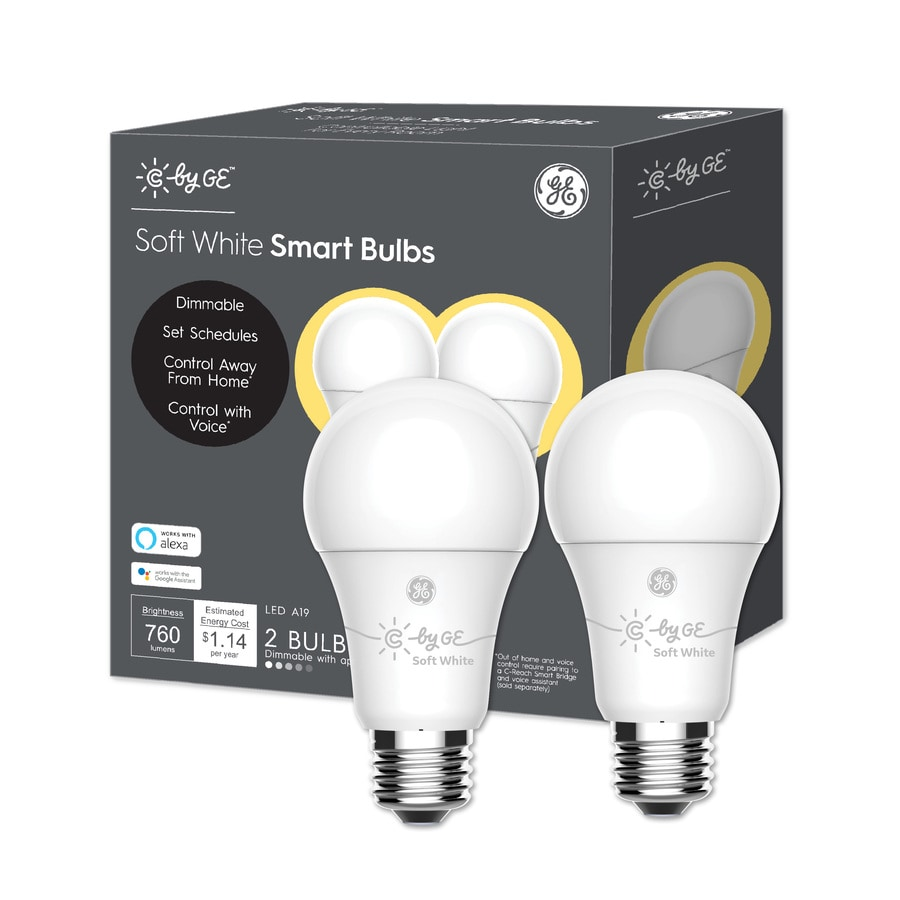 lowes smart bulbs outdoor led ge smart 60watt eq soft white dimmable colored light bulb 2