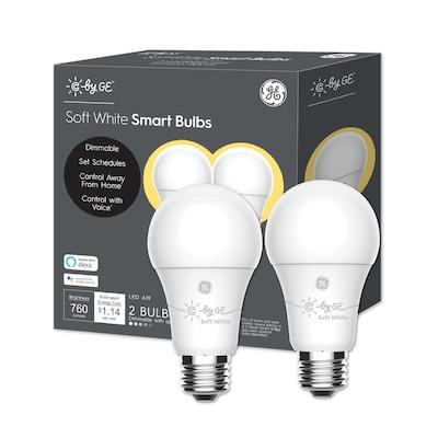 new arrival 02d76 2b269 Smart 60-Watt EQ A19 Soft White Dimmable LED Light Bulb (2-Pack)