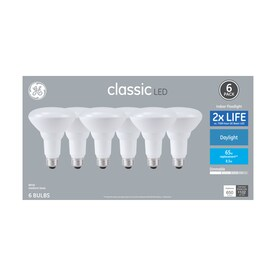 GE Classic 65-Watt EQ BR30 Daylight Dimmable LED Light Bulb (6-Pack)