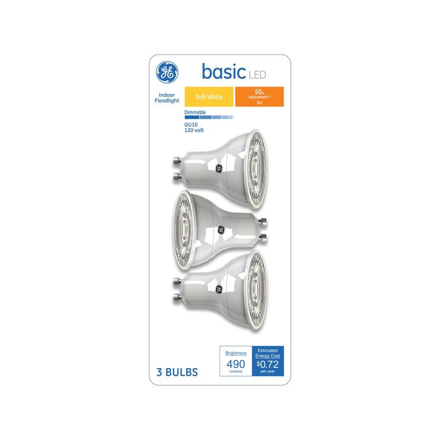 Ge Basic 50 Watt Eq Mr16 Soft White Dimmable Led Light Bulb 3 Pack At Lowes Com